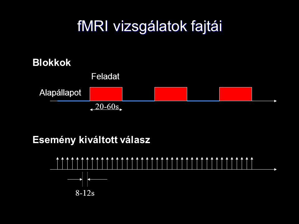 fMRI vizsgálatok fajtái