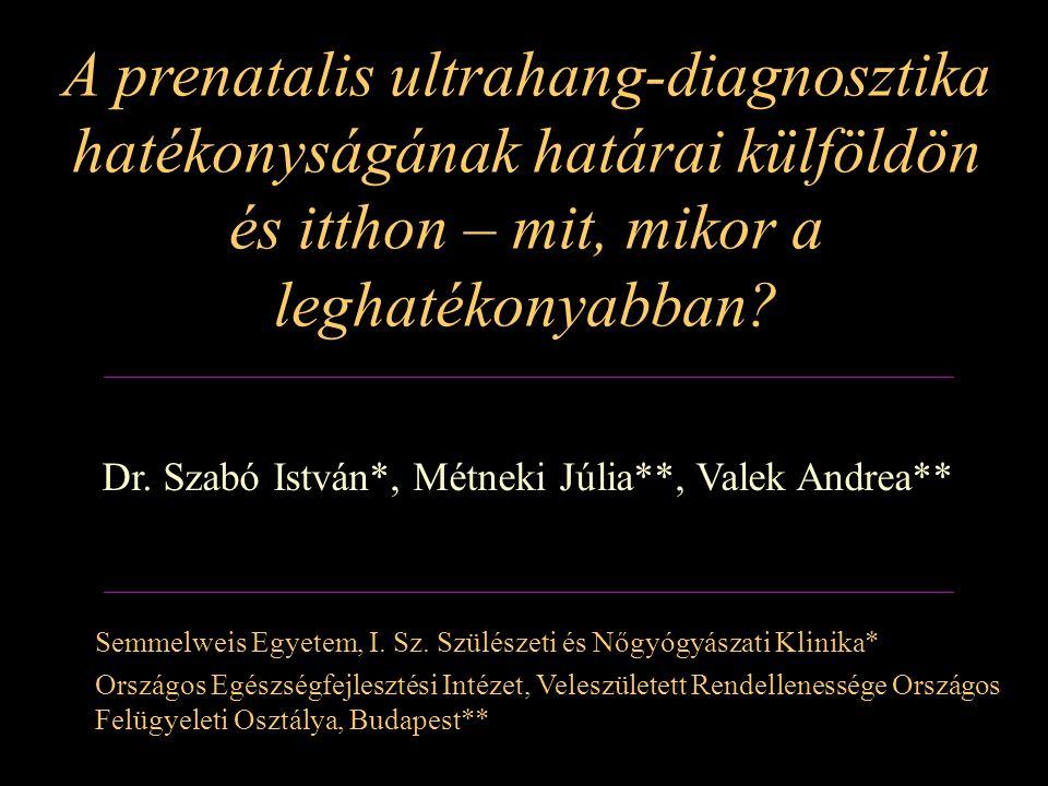Dr. Szabó István*, Métneki Júlia**, Valek Andrea**