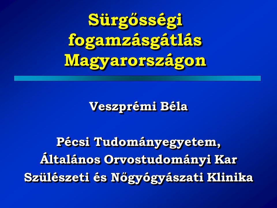 Sürgősségi fogamzásgátlás Magyarországon