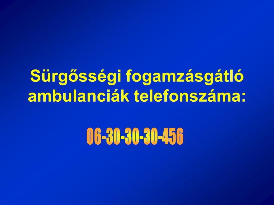Sürgősségi fogamzásgátló ambulanciák telefonszáma: