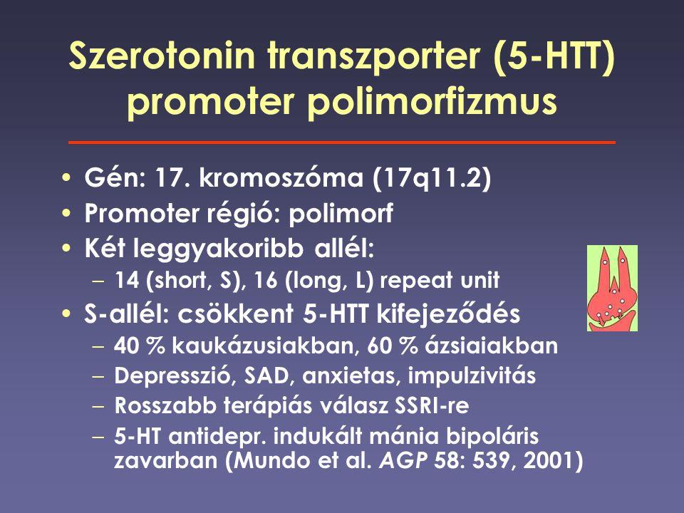 Szerotonin transzporter (5-HTT) promoter polimorfizmus