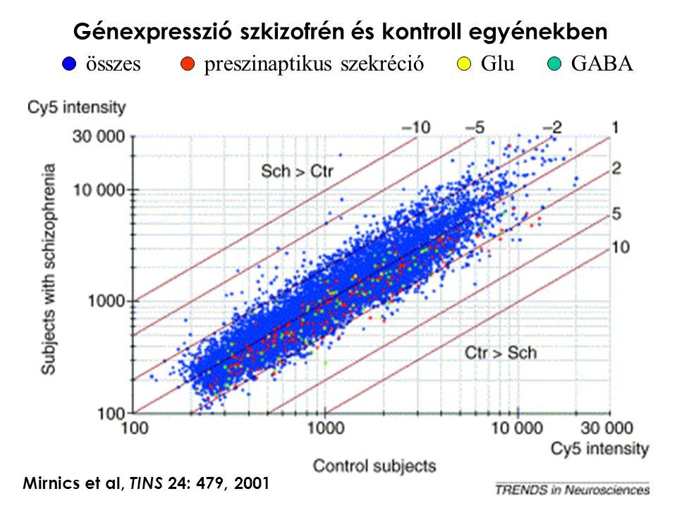Génexpresszió szkizofrén és kontroll egyénekben