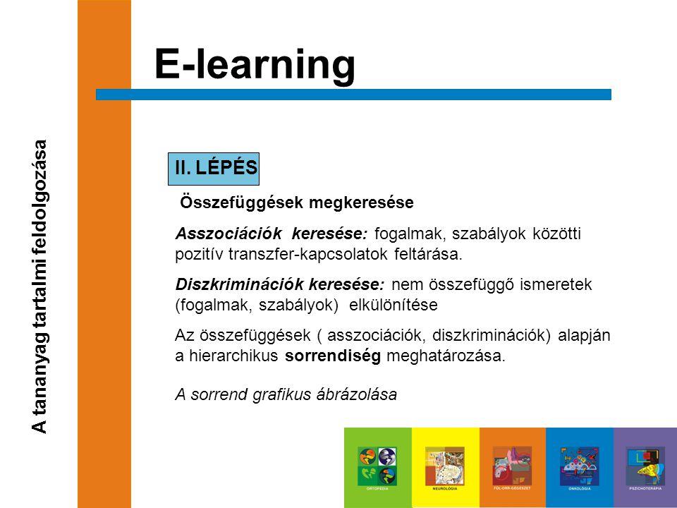 E-learning II. LÉPÉS Összefüggések megkeresése