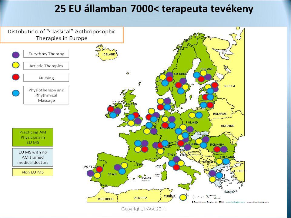 25 EU államban 7000< terapeuta tevékeny