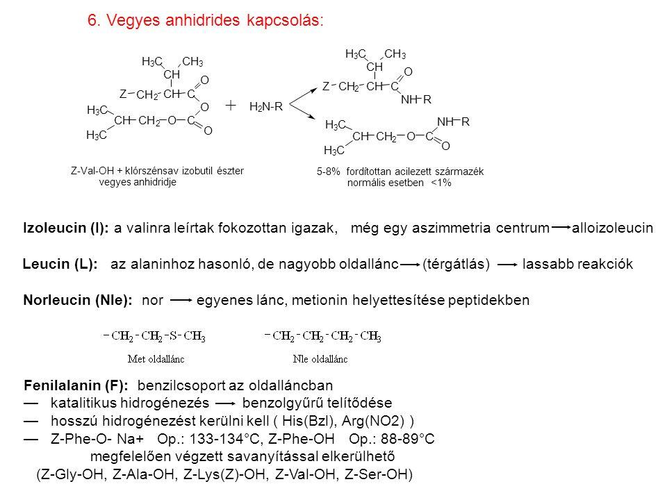 + 6. Vegyes anhidrides kapcsolás: