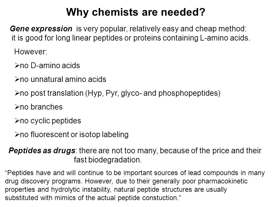 Why chemists are needed