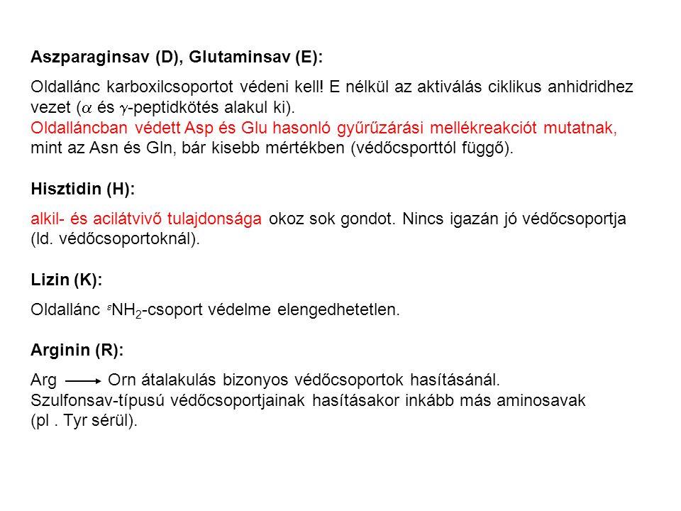 Aszparaginsav (D), Glutaminsav (E):