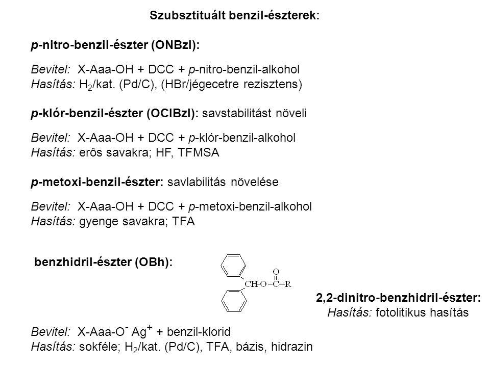 Szubsztituált benzil-észterek: p-nitro-benzil-észter (ONBzl):
