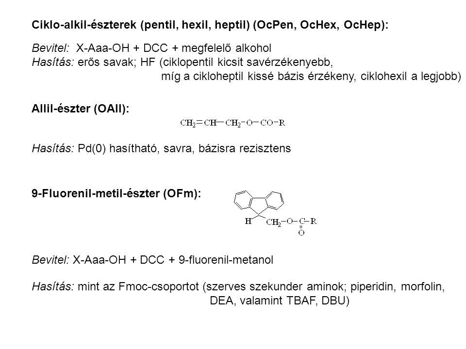 Ciklo-alkil-észterek (pentil, hexil, heptil) (OcPen, OcHex, OcHep):
