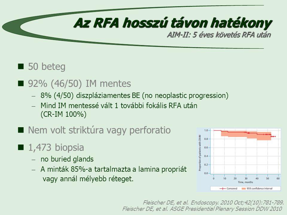 Az RFA hosszú távon hatékony AIM-II: 5 éves követés RFA után