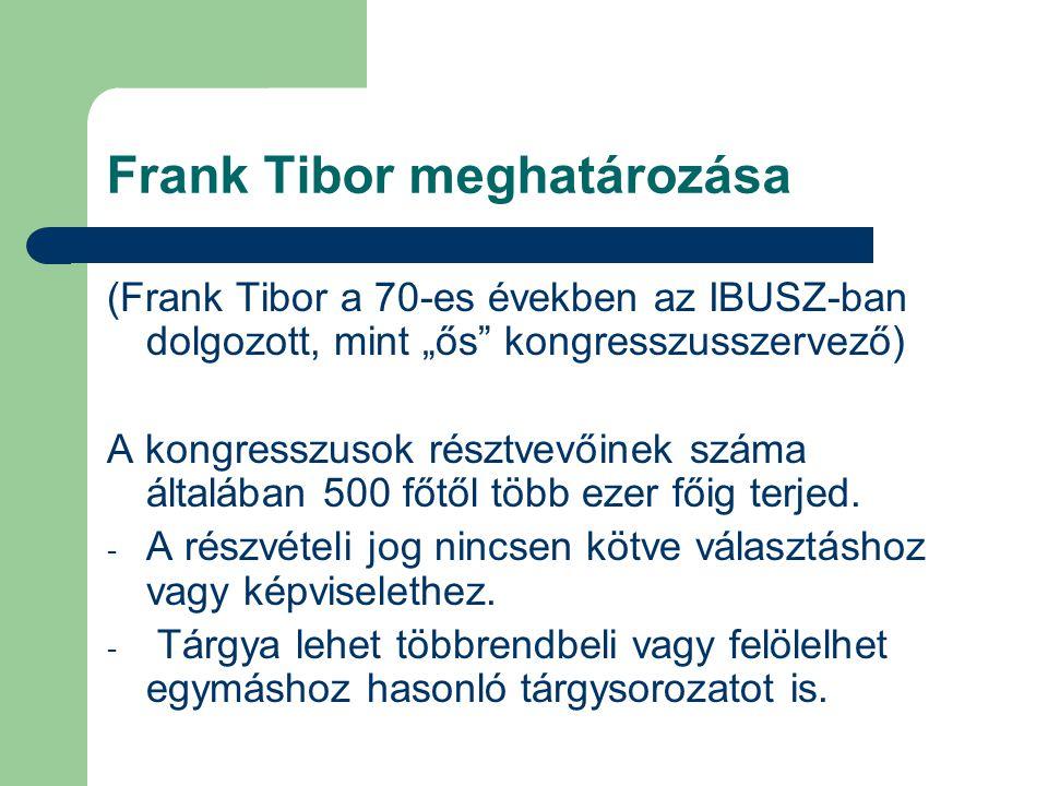 Frank Tibor meghatározása