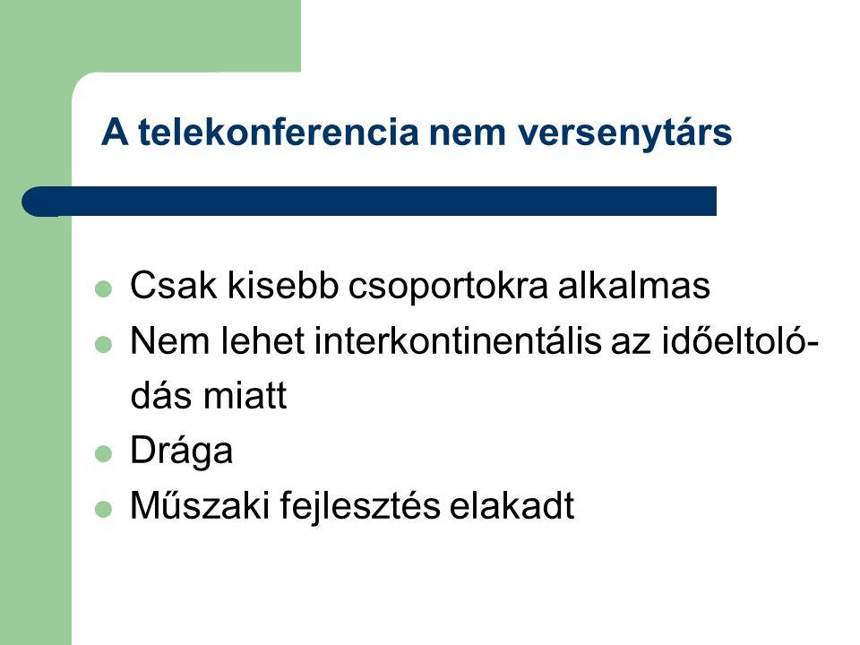 A telekonferencia nem versenytárs