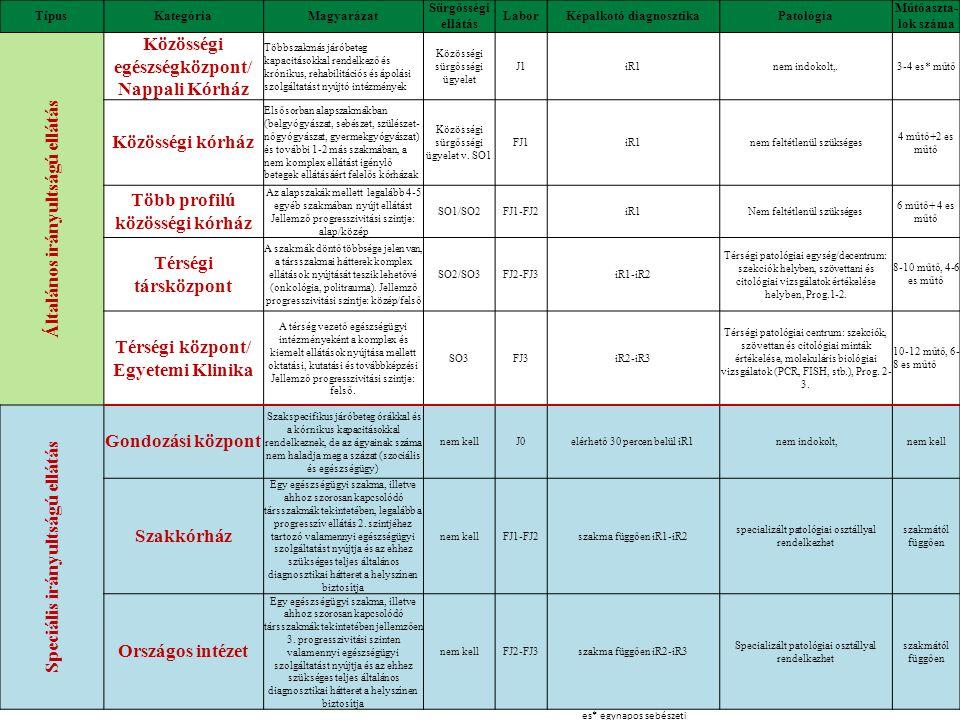 Általános irányultságú ellátás Közösségi egészségközpont/
