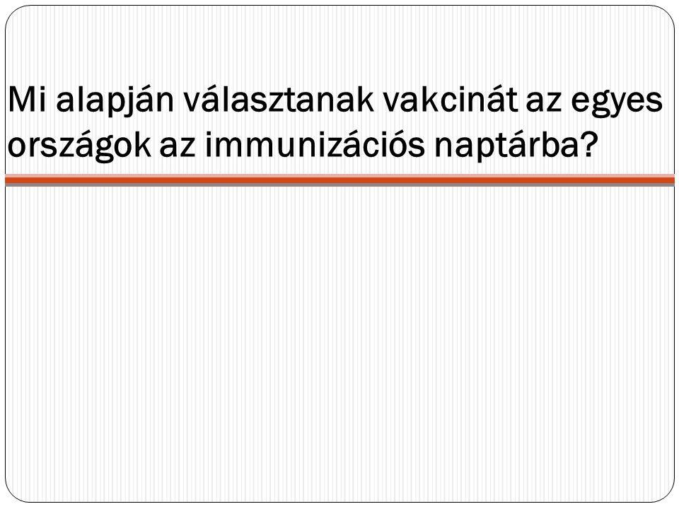 Mi alapján választanak vakcinát az egyes országok az immunizációs naptárba