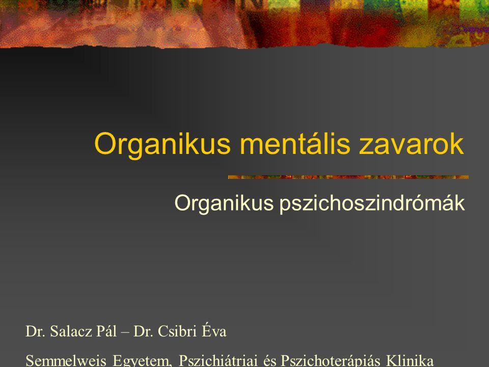 Organikus mentális zavarok