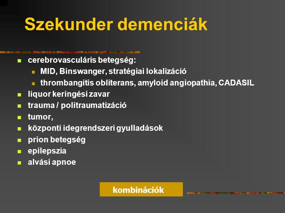 Szekunder demenciák cerebrovasculáris betegség: