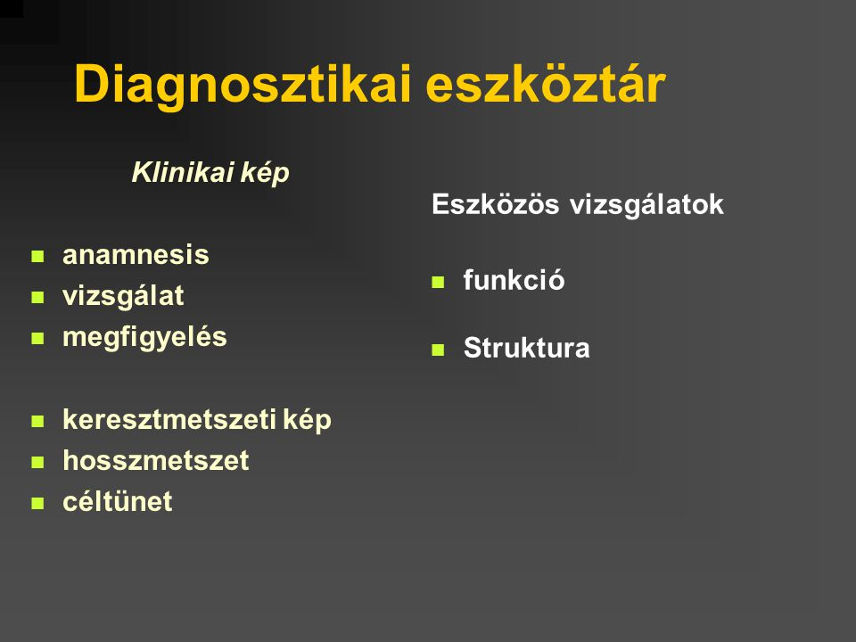 Diagnosztikai eszköztár