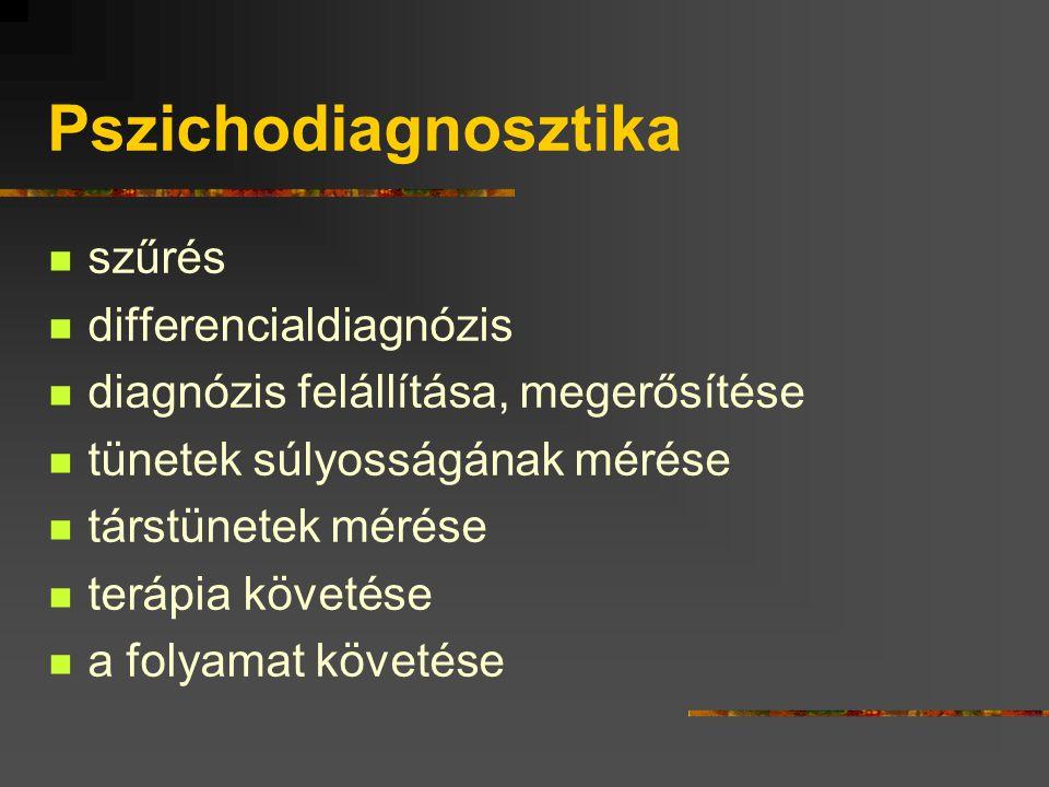 Pszichodiagnosztika szűrés differencialdiagnózis