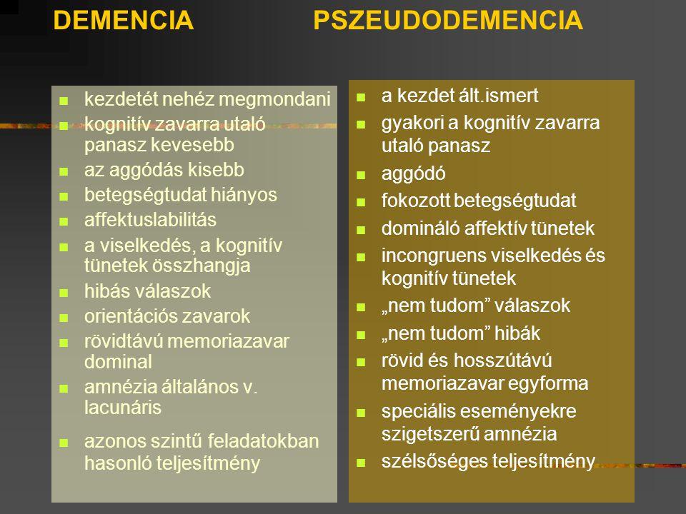 DEMENCIA PSZEUDODEMENCIA
