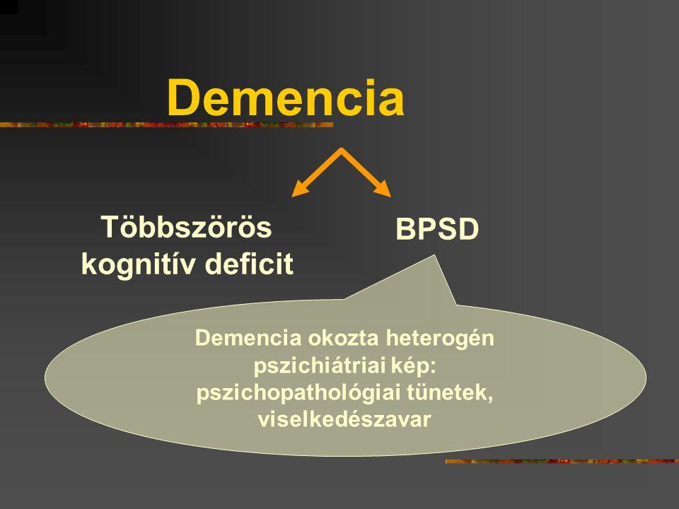 Demencia Többszörös BPSD kognitív deficit