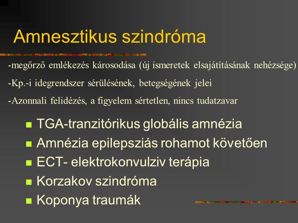 Amnesztikus szindróma