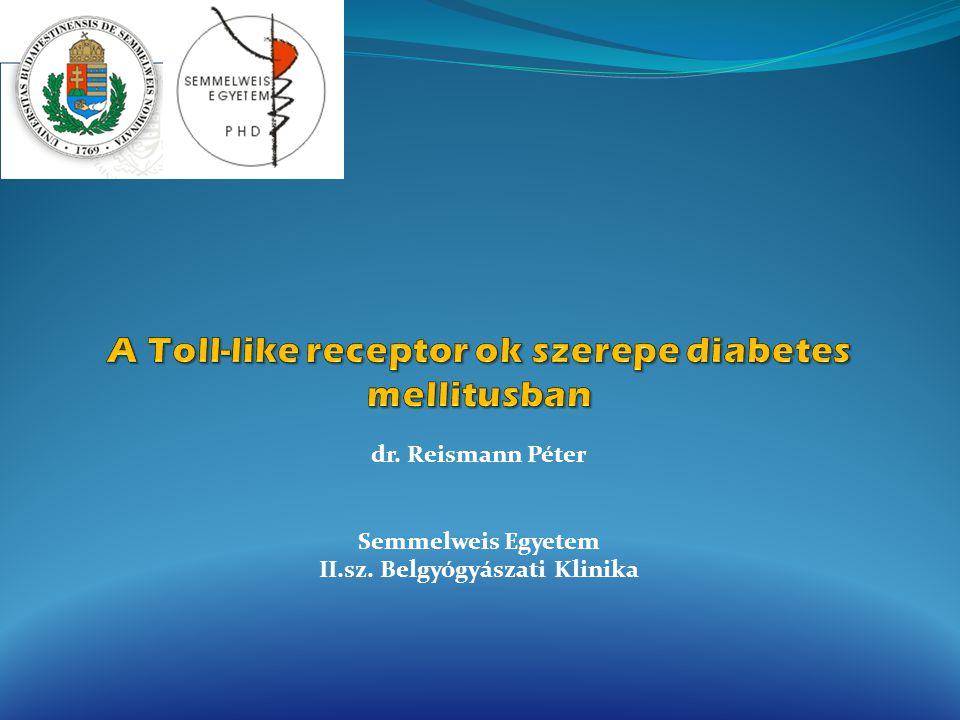 A Toll-like receptor ok szerepe diabetes mellitusban