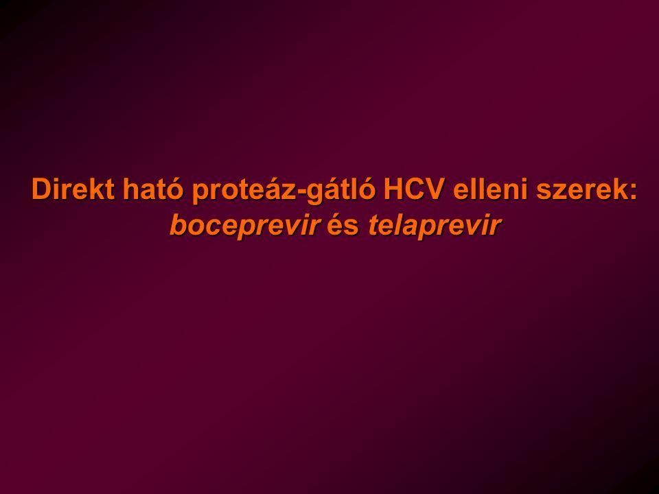 Direkt ható proteáz-gátló HCV elleni szerek: boceprevir és telaprevir