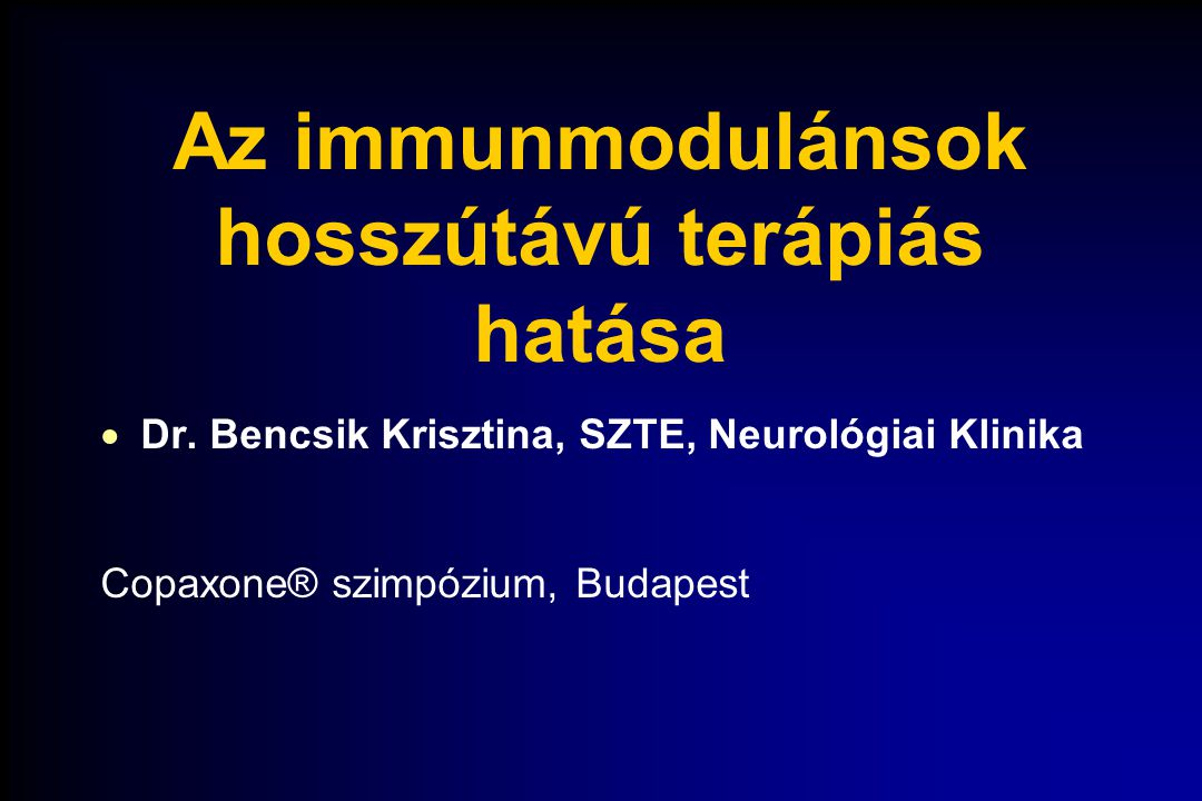 Az immunmodulánsok hosszútávú terápiás hatása