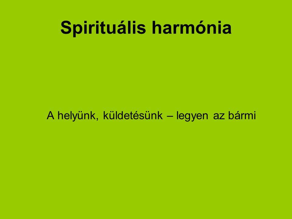 Spirituális harmónia A helyünk, küldetésünk – legyen az bármi