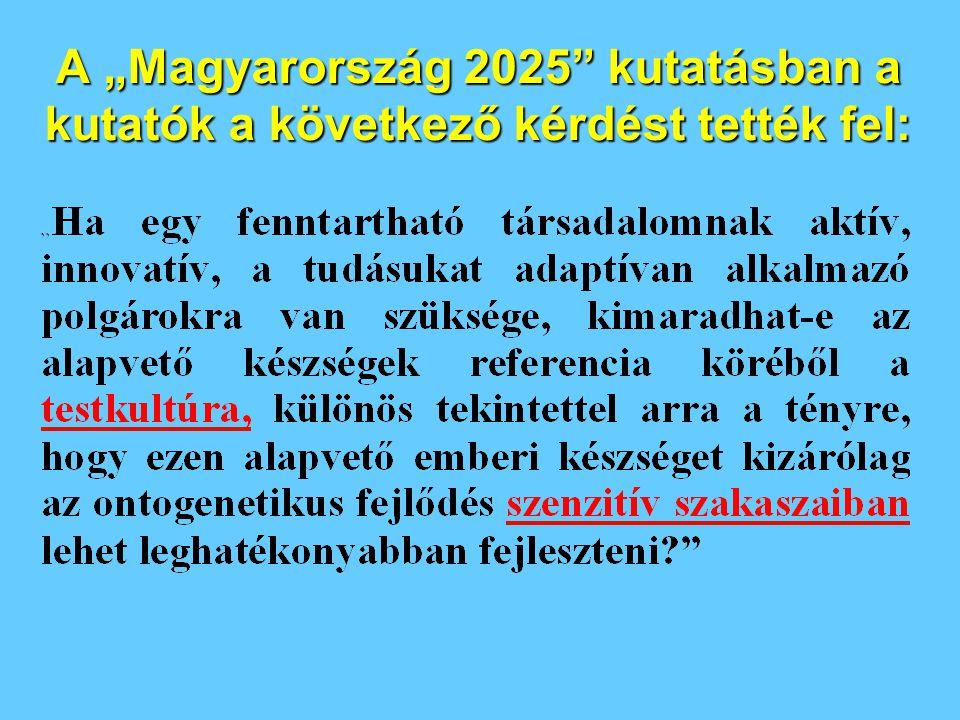 """A """"Magyarország 2025 kutatásban a kutatók a következő kérdést tették fel:"""