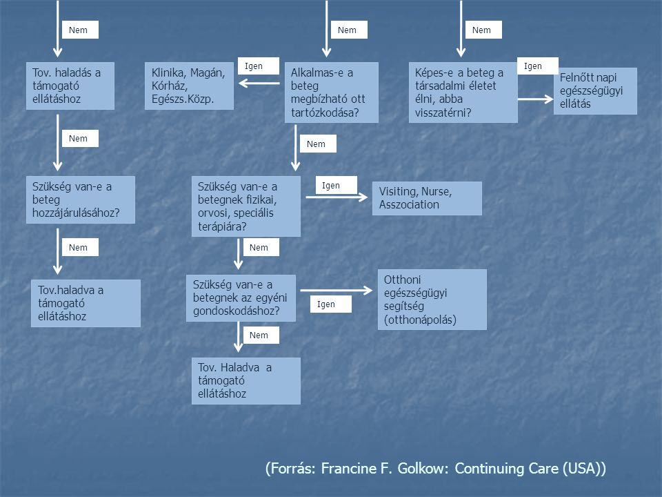 (Forrás: Francine F. Golkow: Continuing Care (USA))