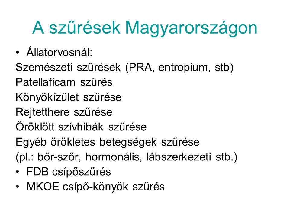 A szűrések Magyarországon