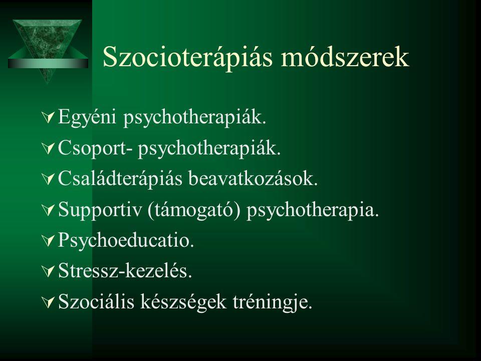 Szocioterápiás módszerek