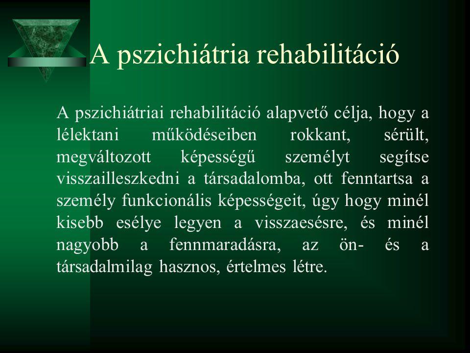 A pszichiátria rehabilitáció