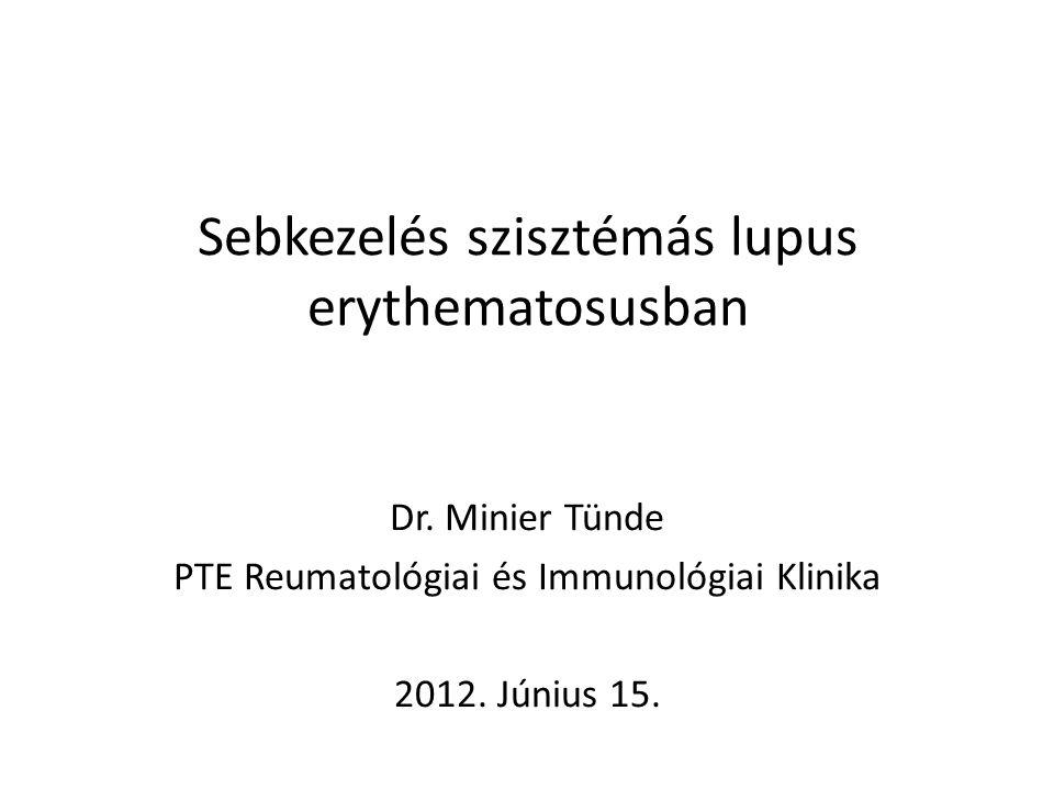 Sebkezelés szisztémás lupus erythematosusban