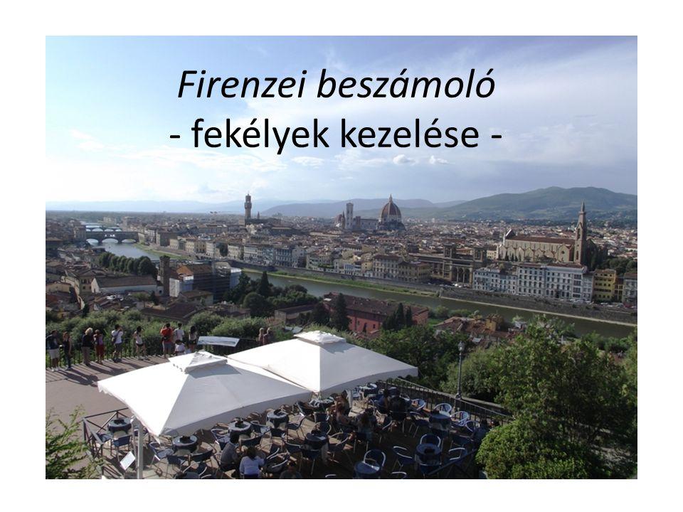Firenzei beszámoló - fekélyek kezelése -