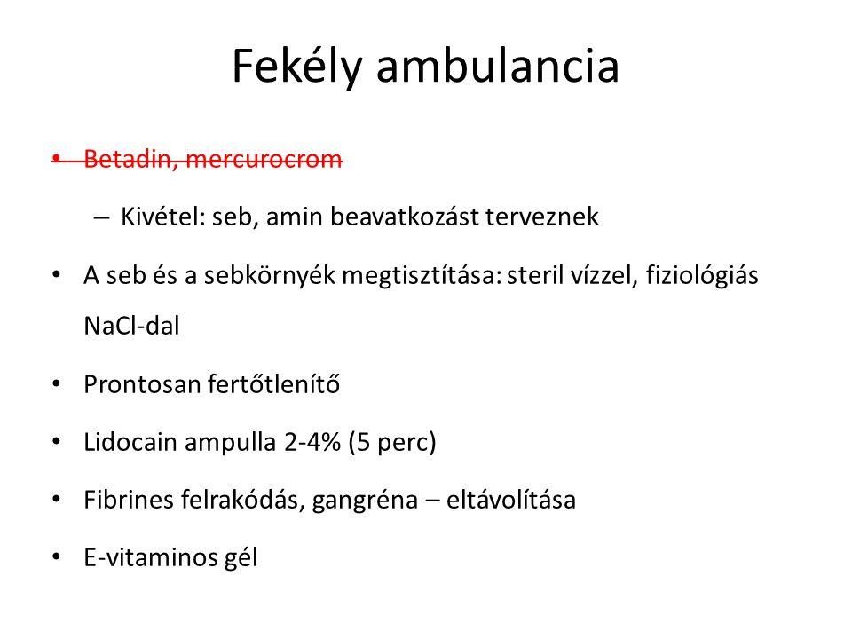 Fekély ambulancia Betadin, mercurocrom