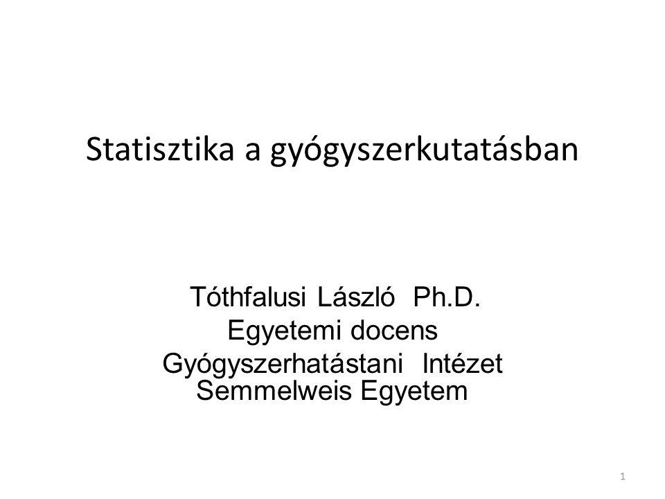 Statisztika a gyógyszerkutatásban