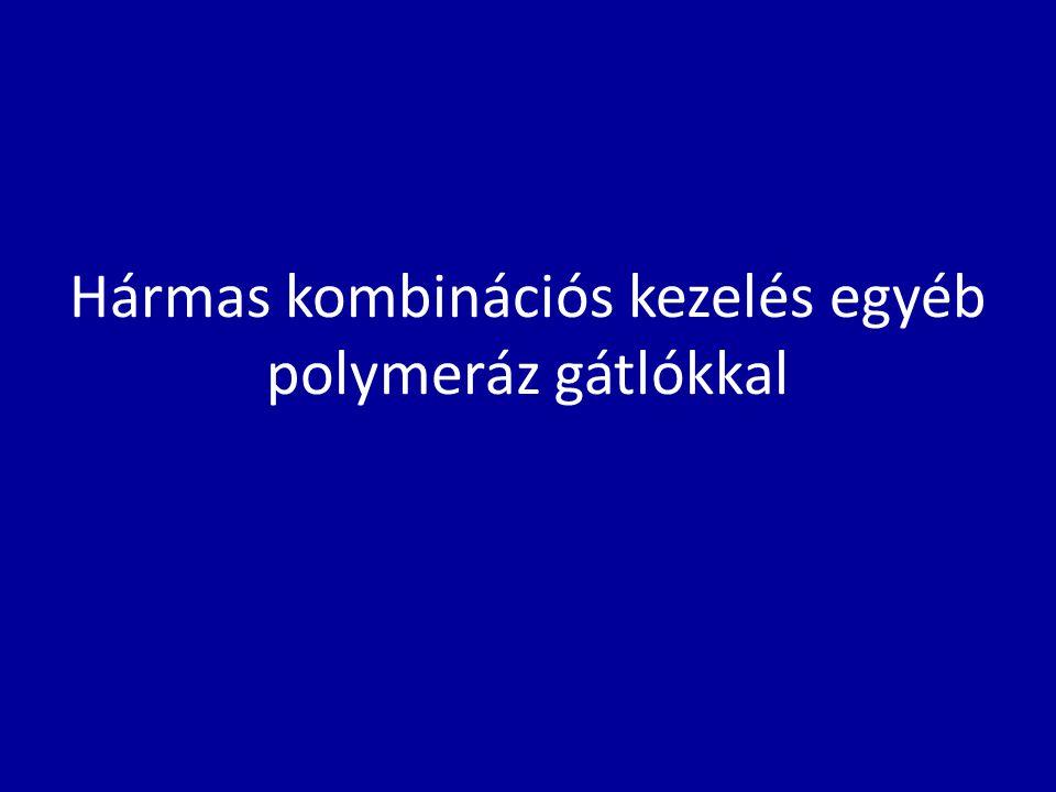 Hármas kombinációs kezelés egyéb polymeráz gátlókkal