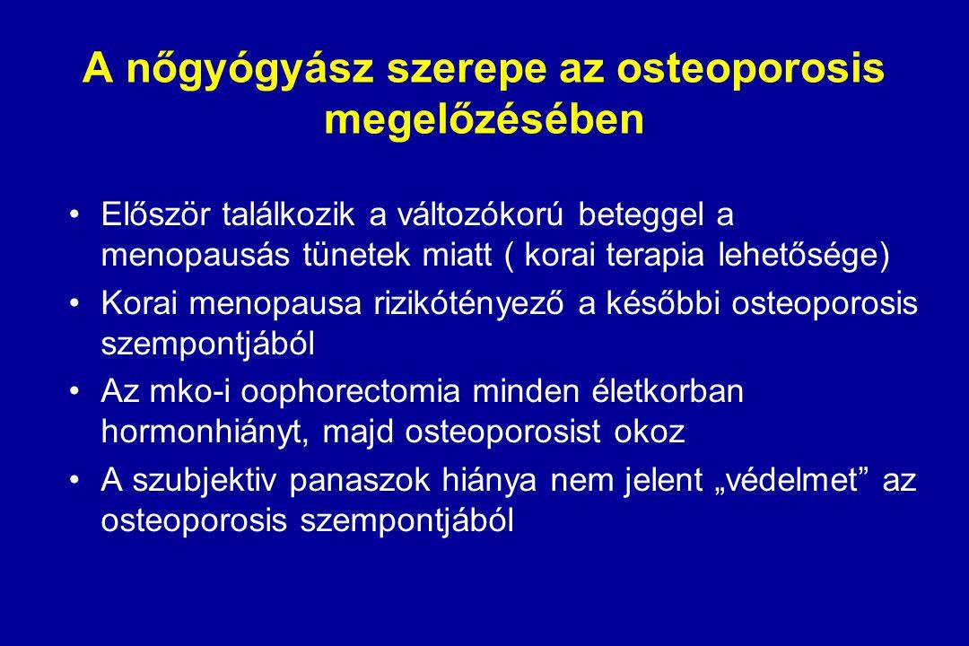 A nőgyógyász szerepe az osteoporosis megelőzésében