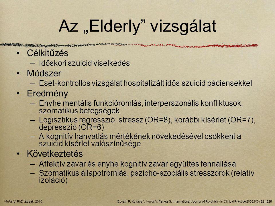 """Az """"Elderly vizsgálat"""