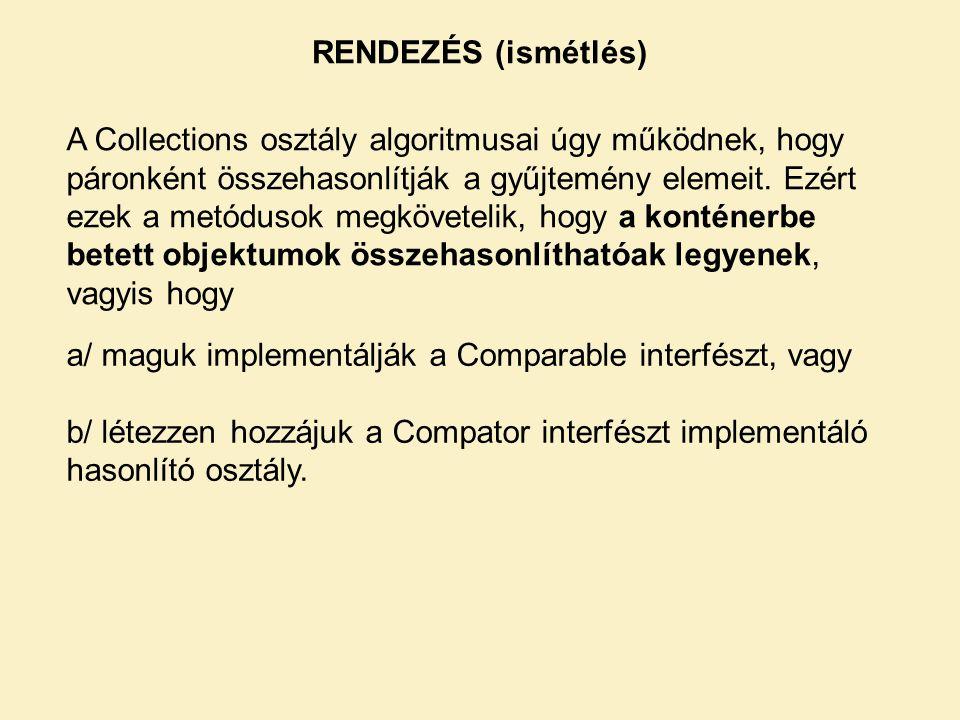 RENDEZÉS (ismétlés)