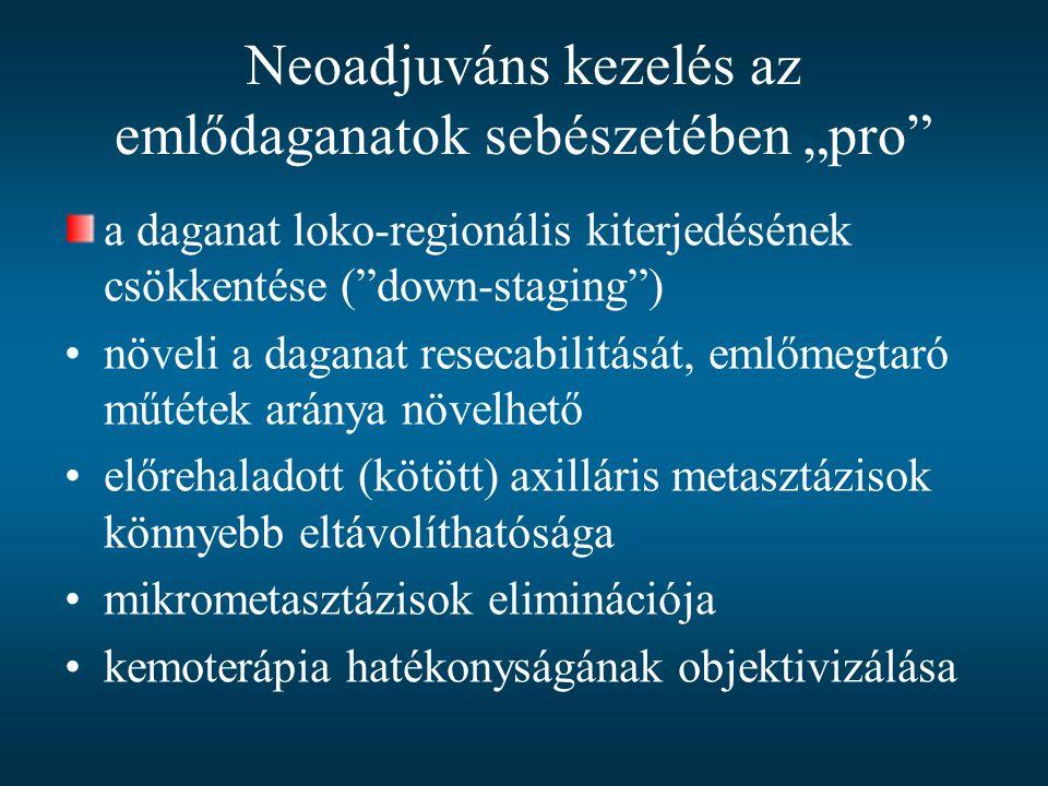 """Neoadjuváns kezelés az emlődaganatok sebészetében """"pro"""