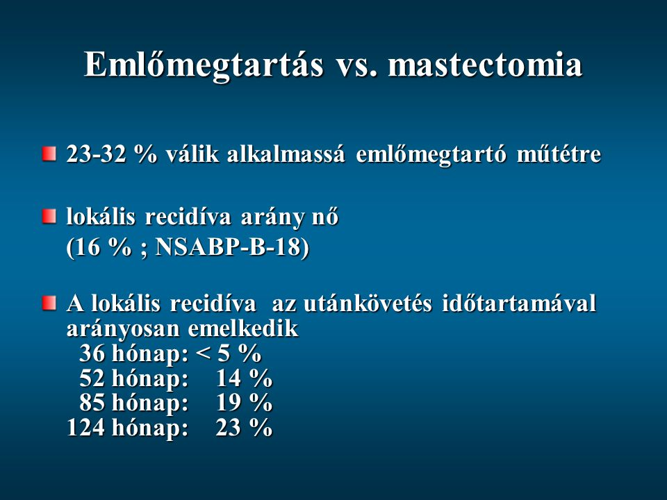 Emlőmegtartás vs. mastectomia