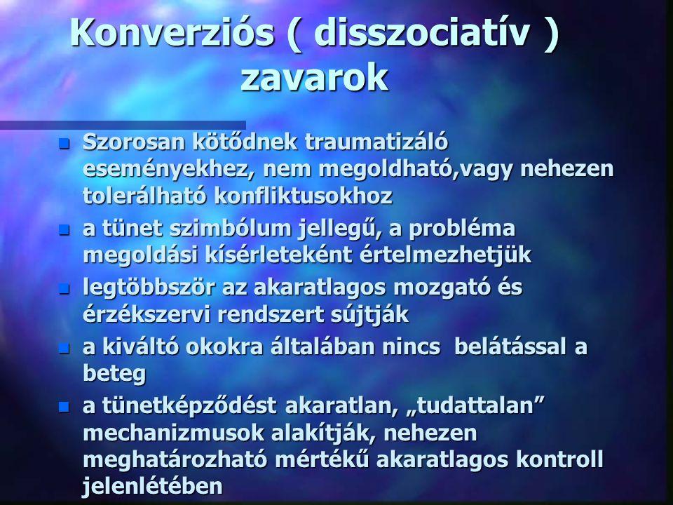 Konverziós ( disszociatív ) zavarok