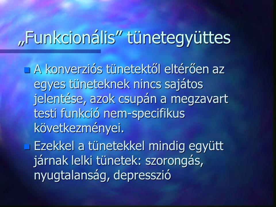 """""""Funkcionális tünetegyüttes"""