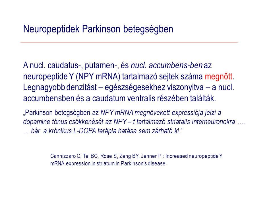 Neuropeptidek Parkinson betegségben