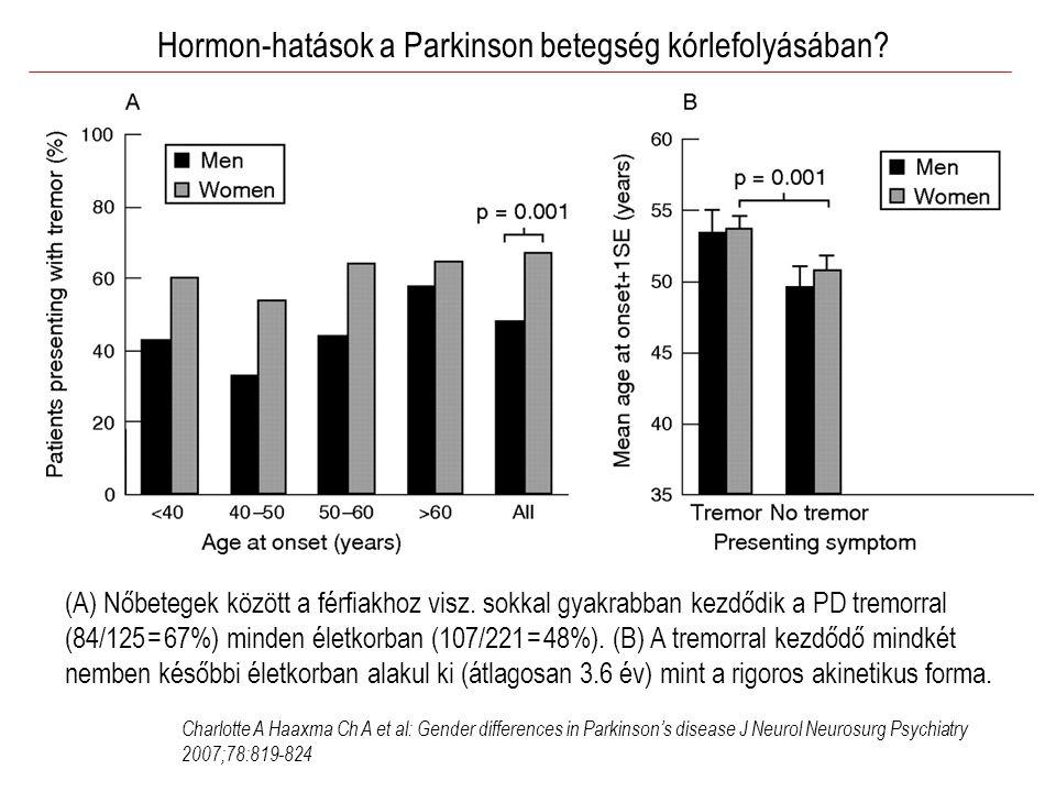 Hormon-hatások a Parkinson betegség kórlefolyásában