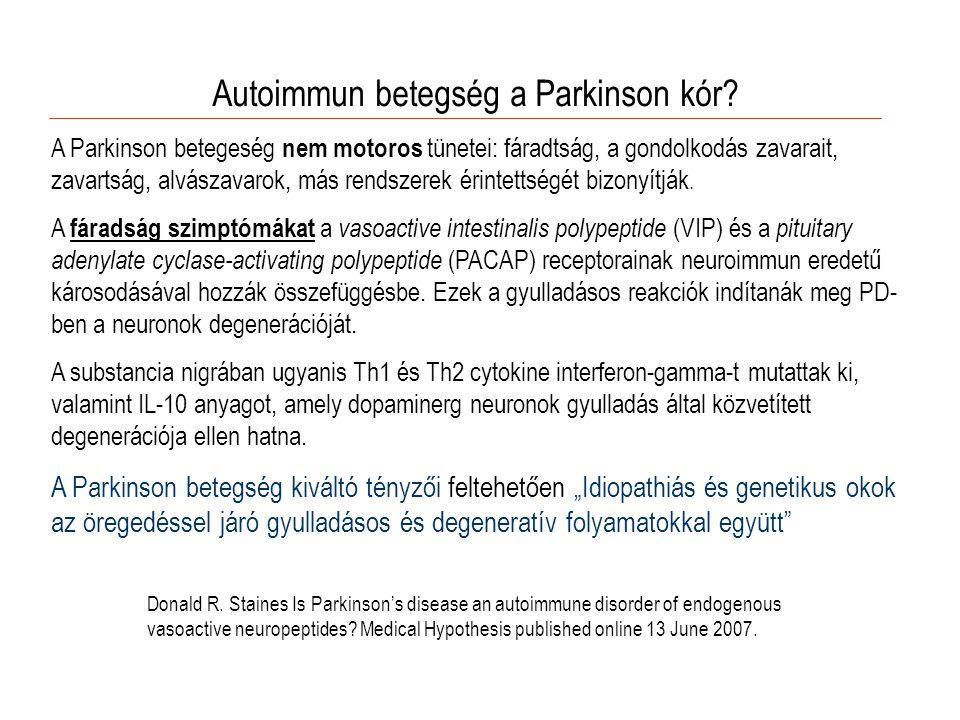 Autoimmun betegség a Parkinson kór