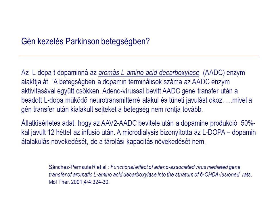Gén kezelés Parkinson betegségben
